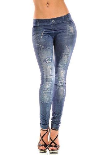 Leggings 11 Jean bleu QIYUN Bleu Collants De Femmes Bleu Leggings Slim De Pantalon Z Crayon 4 Guetres Jeggings Pantalon wHwaq6F