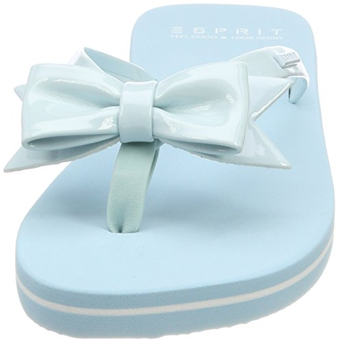 Pastel Blue Blu Bow Ciabatte Doro ESPRIT Donna xXZqZT