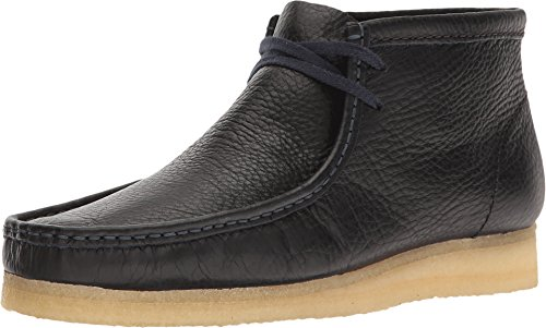 CLARKS Men's Wallabee Boot Navy Tumbled Leather Boot