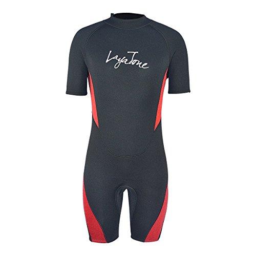 Layatone Wetsuits Shorty Men Women 3mm Neoprene Suit Surfing Scuba Diving Suit Adults One Piece Swimsuit Water Sports Suit Wet Suits Men Shorty Suit ()