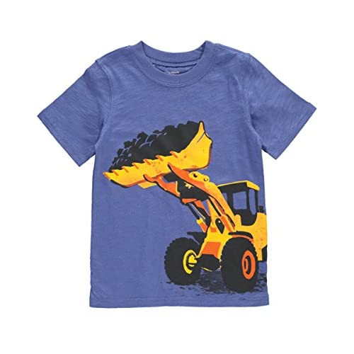 Nice Carter's Boy S/S Construction Graphic Tee; Blue hot sale