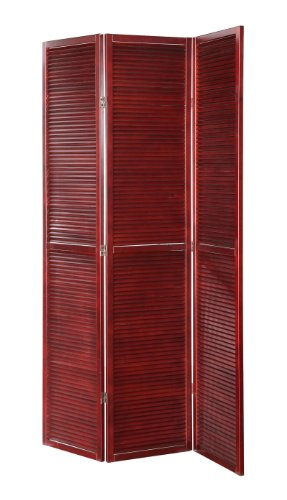 3 Panel Solid Wood Shutter Accordion Screen Room Divider ...