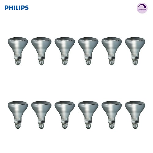 (Philips Indoor BR30 Flood Light Bulb: 2710-Kelvin, 65-Watt, Soft White, E26 Medium Screw Base, 12-Pack)