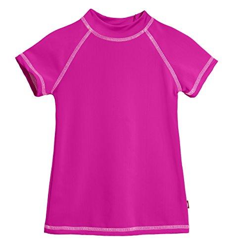 UPC 769519310467, SS City Threads Little Girls' Rashguard Swimming Suit Swim Tshirt Tee UPF50+, SS Hot Pink/Pink, 6