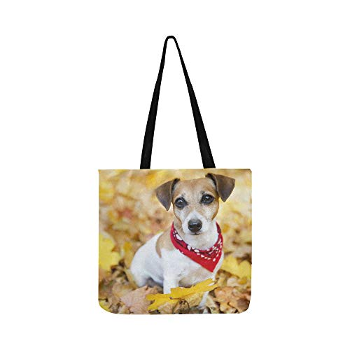 Jack Russell Terrier Puppy Dog Pattern Canvas Tote for sale  Delivered anywhere in Canada