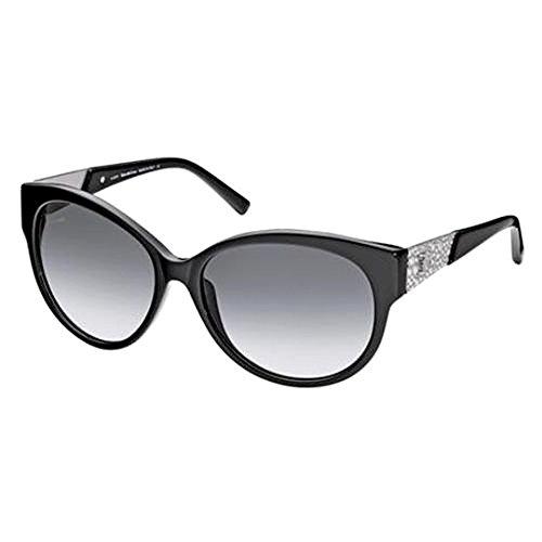 John Galliano Womens Sunglasses Black Silver Frame Gradient Grey Lens JG0057 01B