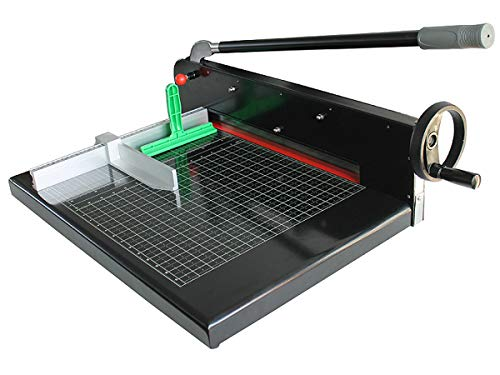INTBUYING Manual Paper Cutter/Trimmer Heavy Duty Guillotine Black Desktop A3 Size Guillotine Stack by INTBUYING (Image #2)