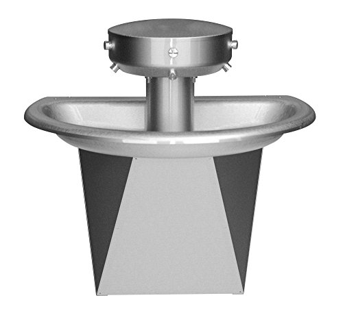 (Bradley S93-647 Sentry Wash Fountain, Stainless Steel, Accommodates Up to 3 Users, Drain Type A, 36