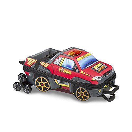 Mochilete 3D Pickup Power Red com Lancheira - Maxtoy