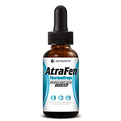 Nutratech Atrafen Thermodrops – Powerful Sublingual Diet Drops and Fat Burner Provides Fast Acting Appetite Suppression and Weight Loss
