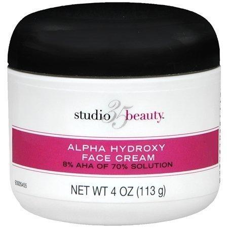 Studio 35 Beauty Face Cream with 8% Alpha Hydroxy Acid AHA 4oz by Studio 10 Aha 8% Face