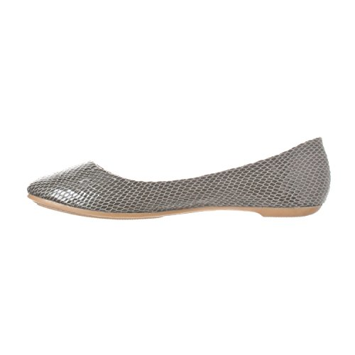Slip Riverberry Women's Toe Round Aria Shoes On Flat Ballet Grey Snake Closed 14qUqAgn0w