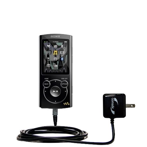 Gomadic High Output Home Wall AC Charger designed for the Sony Walkman S Series NWZ-S764 with Power Sleep technology - Intelligently designed with Gomadic TipExchange by Gomadic