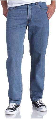 axed Fit Jean - Big & Tall, Medium Stonewash, 46x30 ()