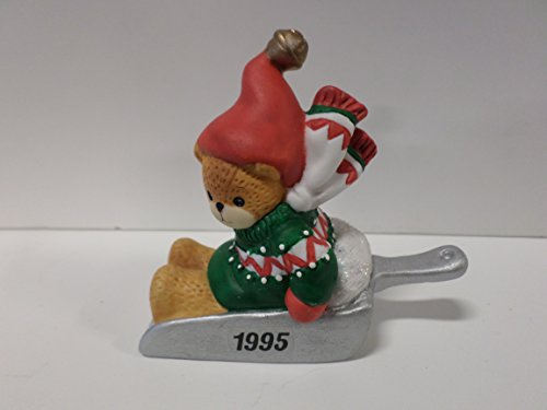 Lucy & Me Series (Enesco) **Bear Sledding in Measuring Spoon Dated 1995 Figurine** 143286