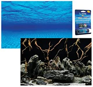 122x61cm SM SunniMix Attractive 3D Digital Aquarium Background Poster Fish Tank Wall Decoration Rocks