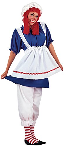 Make Raggedy Andy Costume (Rag Doll Adult Costume - Plus Size 1X)