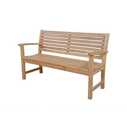 Fine Amazon Com Solid Teak Wood Oak Garden Bench With Mortise Machost Co Dining Chair Design Ideas Machostcouk