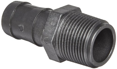 "Banjo HB125 Polypropylene Hose Fitting, Adapter, 1-1/4"" NPT Male x 1-1/4"" Barbed"