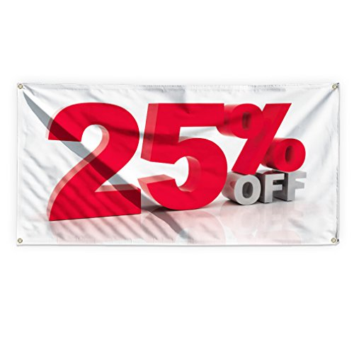 25% Off Outdoor Advertising Printing Vinyl Banner Sign With Grommets - 3ftx6ft, 6 Grommets by Sign Destination
