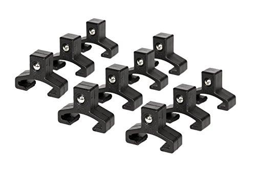 Olsa Tools | Black Spring Loaded Ball Bearing Socket Clips For Use With Olsa Socket Holder Rails | 10-Pack (Socket Holder Rail)