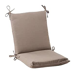 "36.5"" Light Brown Solarium Outdoor Patio Squared Chair Cushion with Ties"
