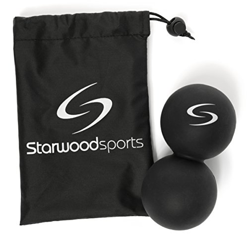 Starwood Sports Peanut Lacrosse Ball   Double Massage Ball For Myofascial Release And Trigger Point Therapy