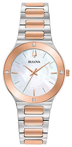 - Bulova 98R274 Futuro Women's Watch Silver/Rose Gold 32mm Stainless Steel