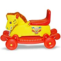 Little Star Mangolian 2 in 1 Baby Horse Rider for Kids 12 Month to 3 Years Baby Birthday Gift for Kids/Boys/Girls Colour (Red/Yellow)