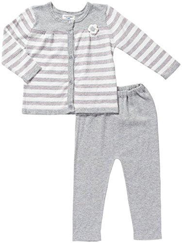 Cardigan Angels - Angel Dear Cardigan & Pant (Baby)-Gray-0-3 Months