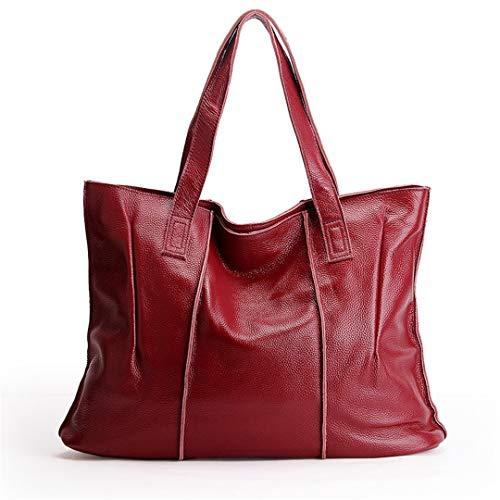 cuir Red sac Grands véritable sacs en Big main bandoulière Femmes Ladies à Sentsreny cuir Sacs Sac Messenger 100 en à wqfFUn1