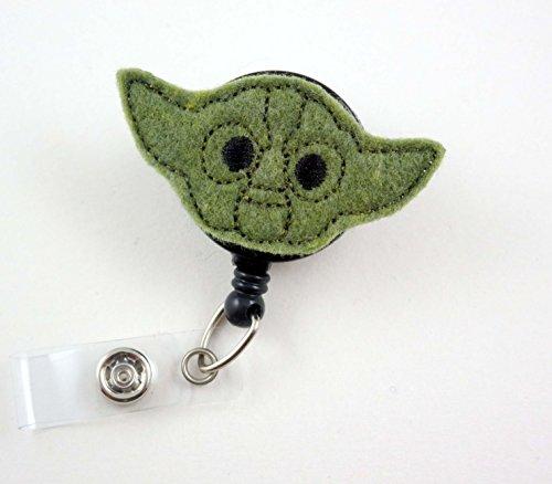 Yoda Inspired - Nurse Badge Reel - Retractable ID Badge Holder - Nurse Badge - Badge Clip - Badge Reels - Pediatric - RN - Name Badge Holder