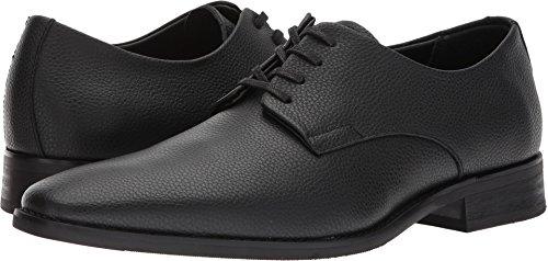 Calvin Klein Men's Ramses Tumbled Leather Oxford, Black, 9.5 Medium US by Calvin Klein