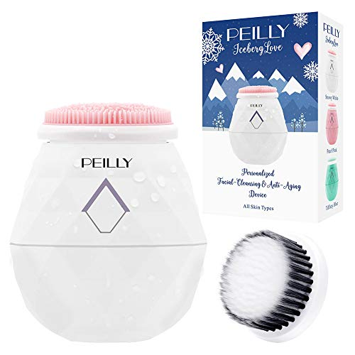 4-Mode Powered Facial Cleansing Brushes White, USB Rechargeable, Silicone & Super Soft Replaceable Brush Heads, Portable Anti-Aging Massager for Household, Travel & Gift