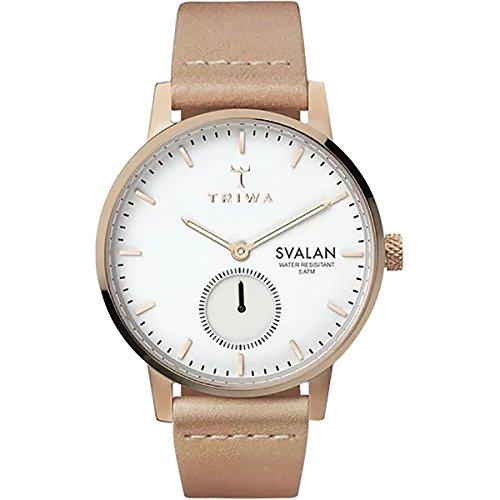 Triwa Svalan Watch - Women's Rose Svalan/Tan Classic Super Slim, One Size