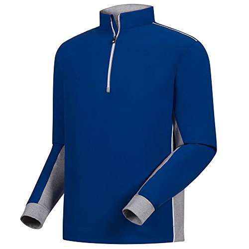 FootJoy Wind Shell Golf Pullover Royal/Heather Gray Small