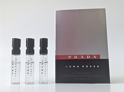 Luna Rossa By: Prada .05 oz EDT, Men's Sample-Vials (**Lot Of 3**) ()