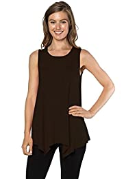 Womens Tunic Tank Top T-Shirt - Loose Basic Sleeveless Tee Shirt Blouse