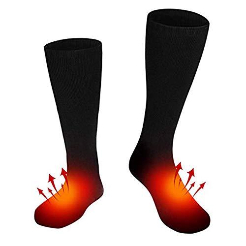 FAMKIT Elektrische oplaadbare batterij verwarmde sokken voor mannen vrouwen,Winter warme Thermo-sokken outdoor sport ski…