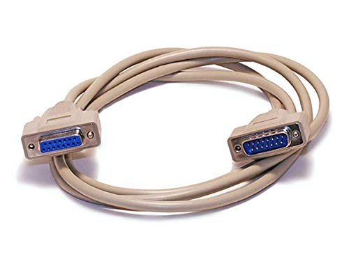 Monoprice 100545 10-Feet DB15 M/F 1:1 Molded Cable, Beige (100545)