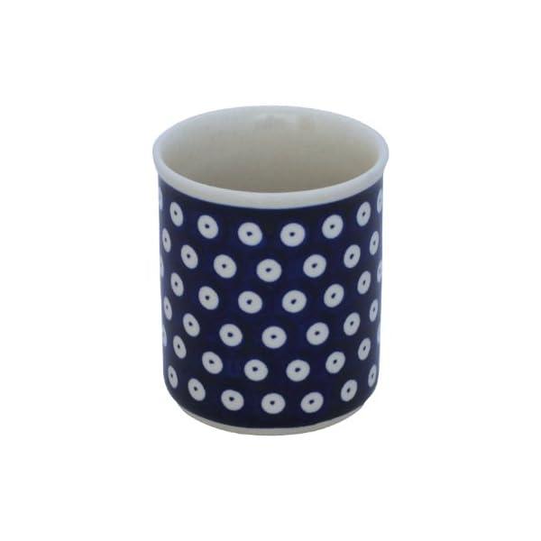 Boleslawiec Pottery Mug without handles, 0.25 L, Original Bunzlauer Keramik, Decor 42