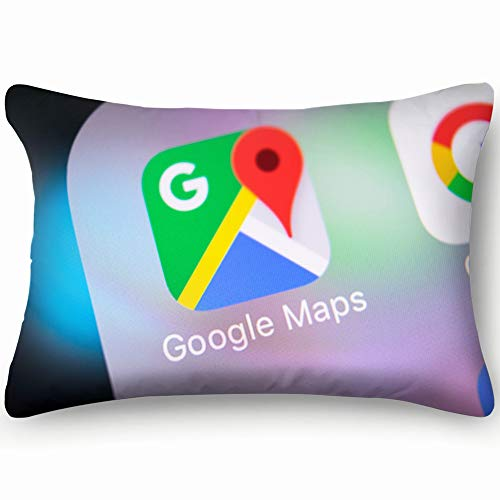 (Sankt Petersburg Russia March 8 2018 Google Technology Cotton Linen Blend Decorative Throw Pillow Cover Cushion Covers Pillowcase Pillow Shams, Home Decor Decorations For Sofa Couch Bed Chair 20X36 In)