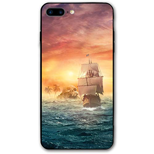 PabcDef Pirate Ship Sunset iPhone 7 Plus / 8 Plus iPhone 7/8 Plus Shockproof Case Skin Fits 5.5