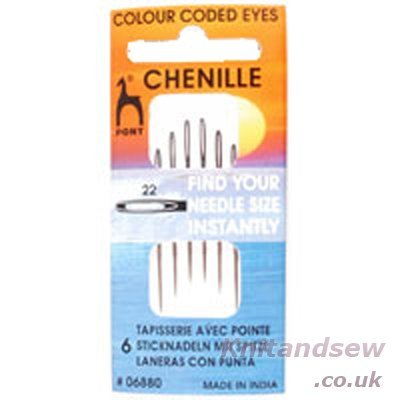 Pony Size 22 Chenille Colour-Coded Eye Needles