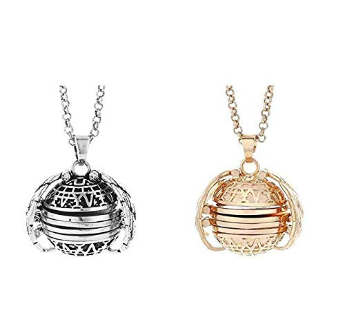 - Agelloc 2PC Creative Necklace Expanding Photo Locket Necklace Pendant Souvenir Angel Wings Gift Jewelry Vintage Fashion Clothing Accessory Valentine Birthday Gift (Bronze+Rose Gold)
