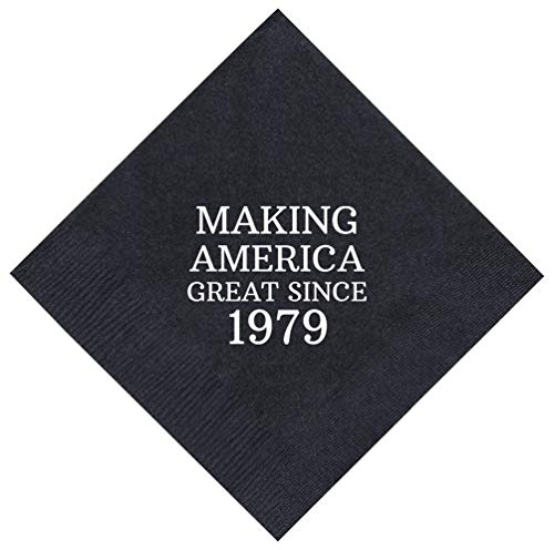 40th Birthday Gifts Making America Great Since 1978 40th Birthday Party Supplies 50 Pack 5x5