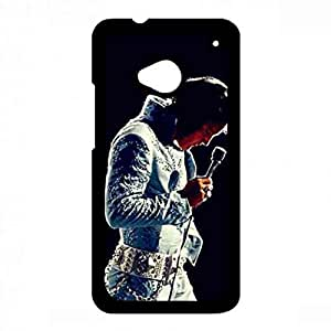 Black Famous Star Elvis Presley Hard Phone funda Back Cover For Htc One M7