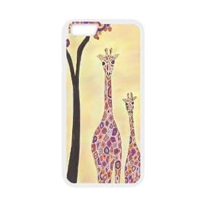 """ZLGU(RM) Iphone6 Plus 5.5"""" Case with GiRAFFE Art Print Brand New Case, Custom Cover Case"""
