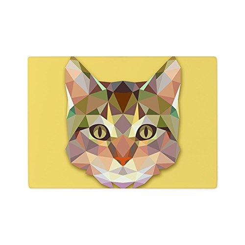 Glass Cutting Board Triangle Cat Kitten ()