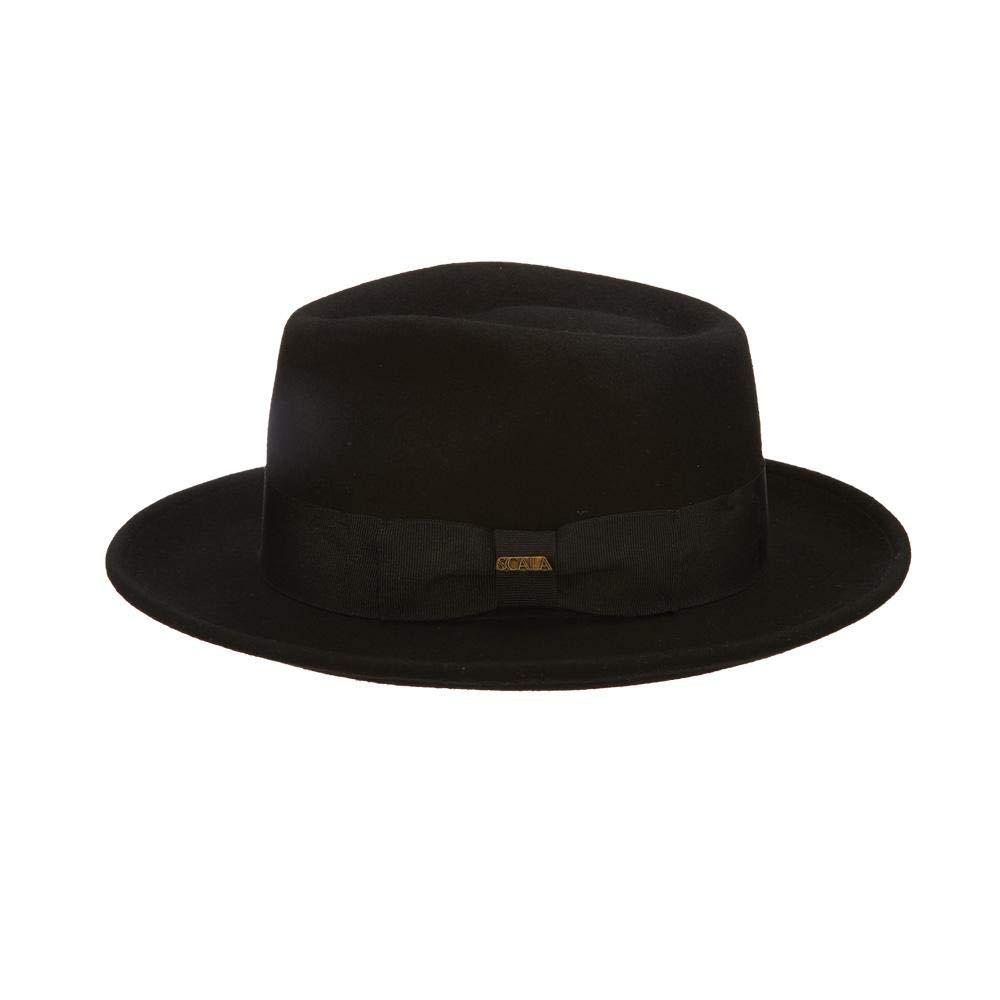 a2e5c4a59b3 Scala Classico Men's Crushable Wool Felt Fedora at Amazon Men's Clothing  store: